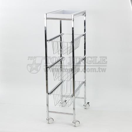 Rectangular Narrow Wire Trolley Cart