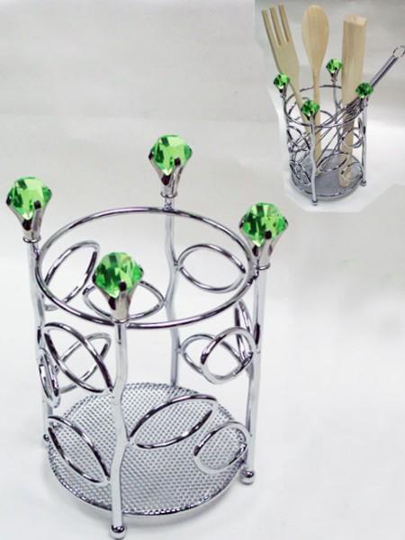 Diamond Flower Utensil Holder