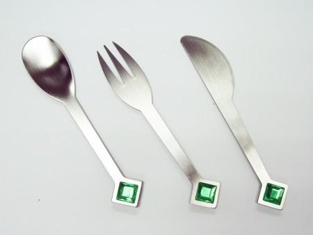 Набор посуды Green Rhombus