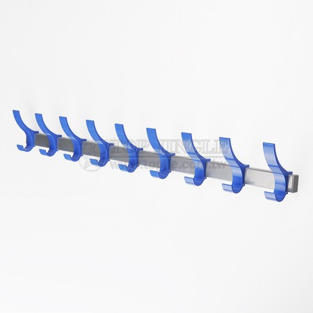 Aluminum 9 Double Hooks