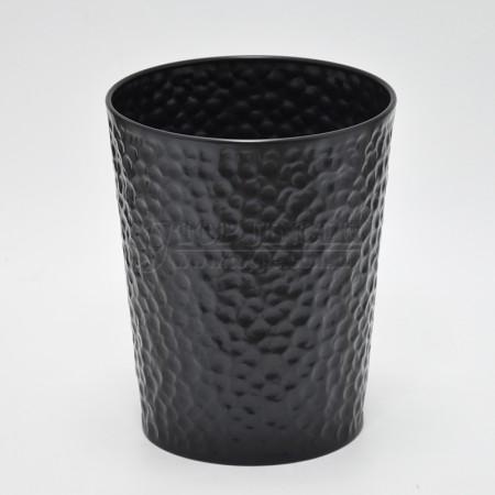 Black Cylinder Waste Bin
