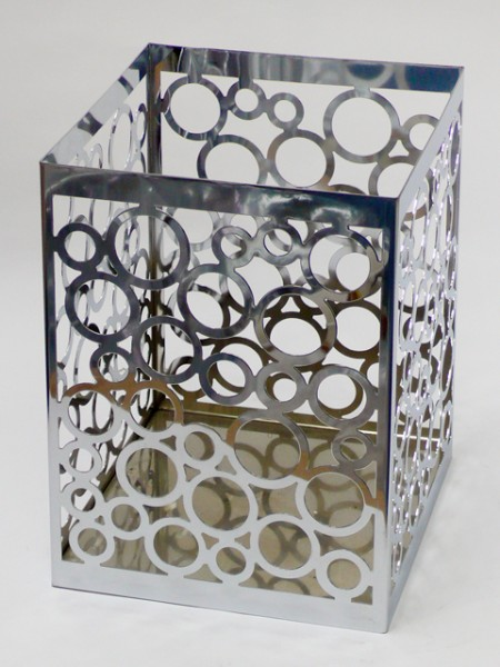 Square Pattern Waste Bin