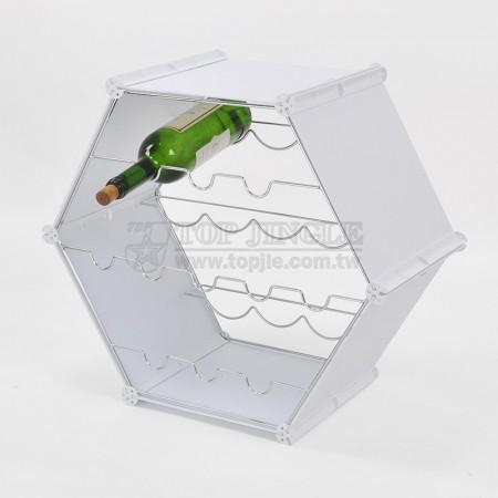 Tek yönlü şarap rafı