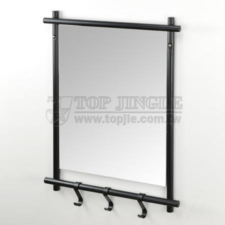 Wall Mounted Mirror With Hooks