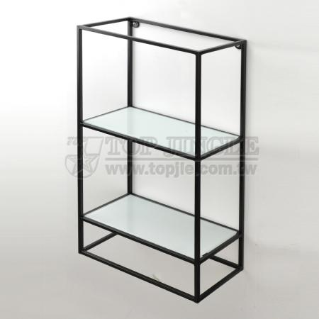 Wall Mounted 2 Tier Storage Rack