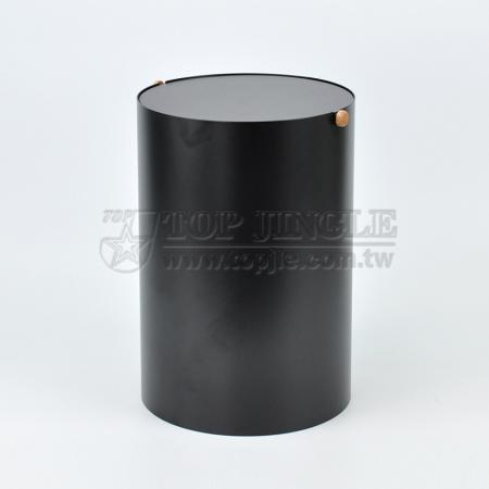 Metal Matte Black Waste Bin