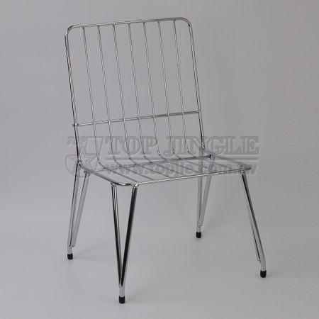 Стул для стула из железной проволоки - большой