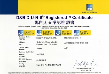 D&B DUNS registrato