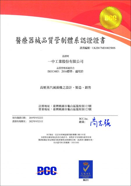 ISO13485 Certification