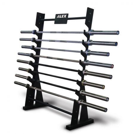 橫式奧林匹克槓收納架 - 奧槓收納架