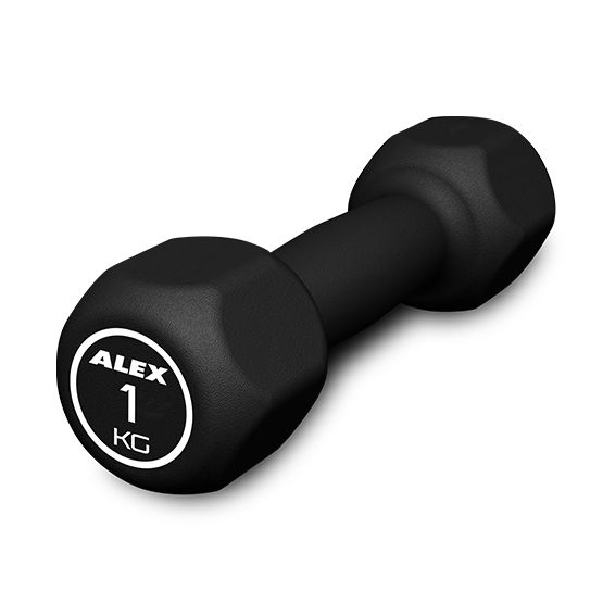 Hexagonal Rubber Dumbbell