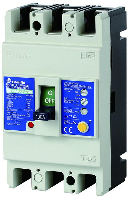 Disjuntor elétrico BL100-SN do escapamento da terra de Shihlin Electric