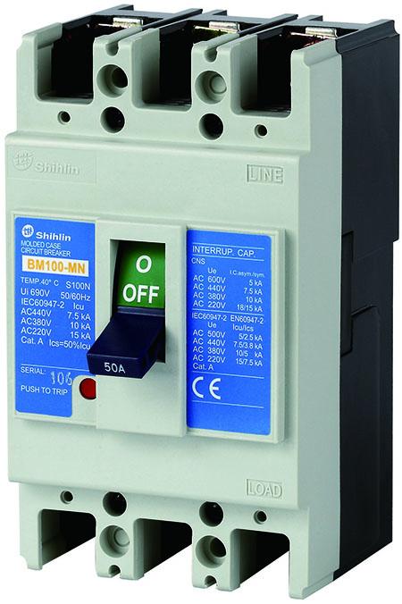 Shihlin Electric Molded Case Circuit Breaker BM100-MN