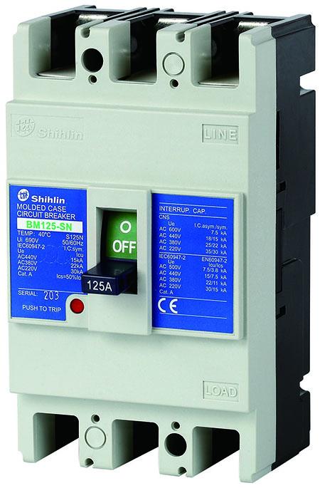 Shihlin Electric Moulded Case Circuit Breaker BM125-SN