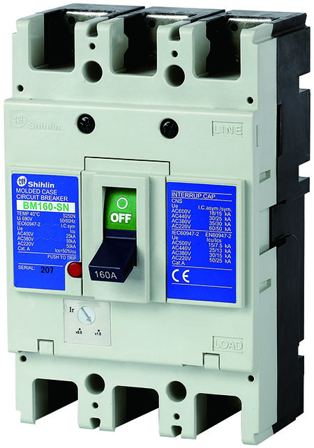 Shihlin Electric Molded Case Circuit Breaker BM160-SN