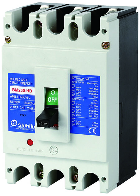Shihlin Electric Kalıp Durumda Devre Kesici BM250-HB
