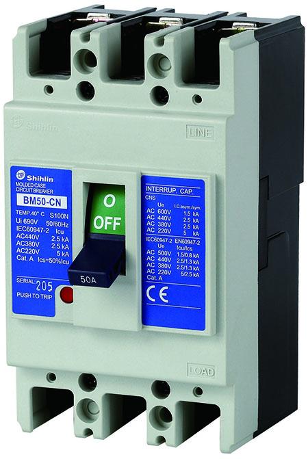 Disjuntor em caixa moldada Shihlin Electric BM50-CN