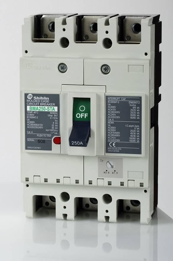 Disjuntor em caixa moldada Shihlin Electric BMA250
