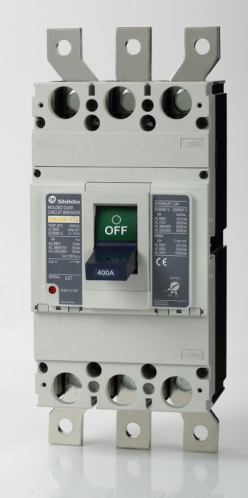 Disjuntor em caixa moldada Shihlin Electric BMA400