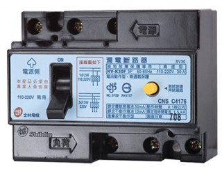 Earth Leakage Circuit Breaker - Shihlin Electric Earth Leakage Circuit Breaker BL-K30F