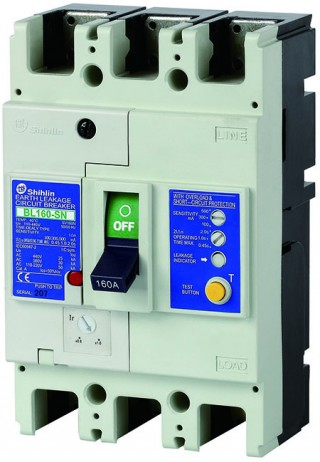 Pemutus Sirkuit Kebocoran Bumi - Shihlin Electric Earth Leakage Circuit Breaker BL160-SN
