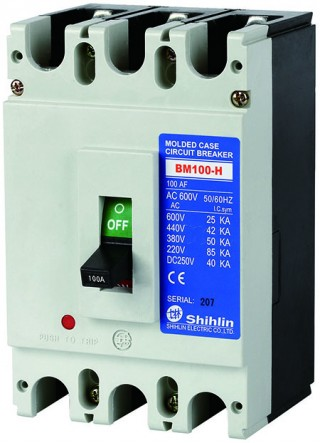Molded Case Circuit Breaker - Shihlin Electric Molded Case Circuit Breaker BM100-H