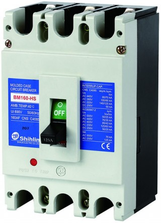 Molded Case Circuit Breaker - Shihlin Electric Molded Case Circuit Breaker BM160-HS