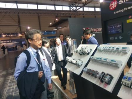 Shihlin Electric stand in 2018 Hannover Messe