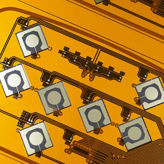 دارة مزدوجة مرنة مطبوعة من جانب (FPC) - مطلية بالذهب مزدوج الجانب FPC.