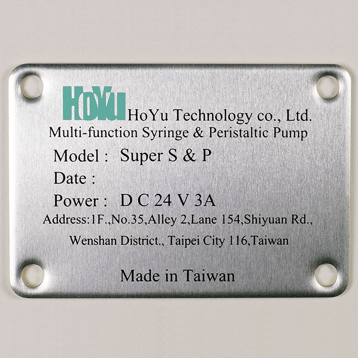 Printed Aluminum Plates - Aluminum plate with printing description.