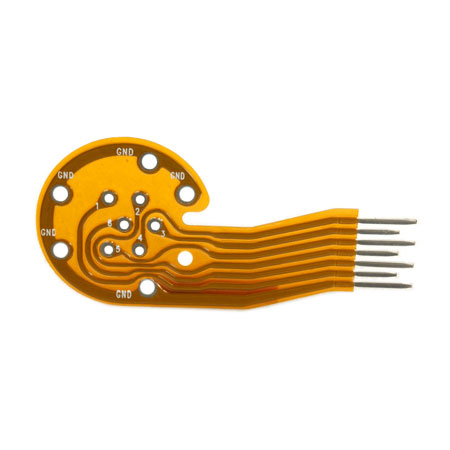Flexible Printed Circuit (F.P.C.) - Double Sided FPC. Assembled with Components.