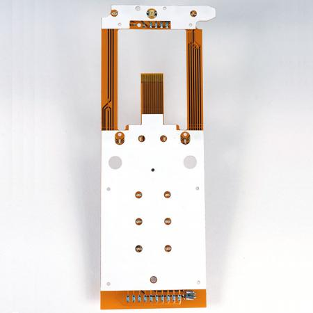 Flexible Printed Circuit with Light Guide Film - Double Sided FPC. Assembled with LGF.
