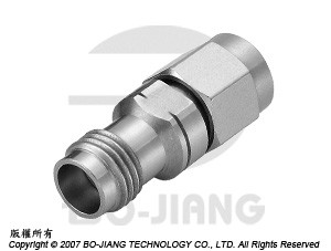 1.85豪米母端對2.92毫米(K波段)公端射頻微波同軸轉接器 - Adaptor 1.85mm Jack to K (2.92mm) Plug