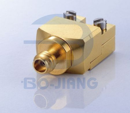 1.0mm Female End Launch Connector - 1.0mm Jack solderless Edge Launch for PCB, DC TO 110GHz