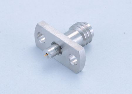 1.0mm (W Band) Male Flange mode Recept Type with 2 Holes - W (1.0mm) Male Panel Recept