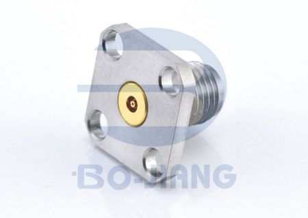 3.5mm RF/Microwave coaxial Panel Recept series - 3.5mm - Flange Monut with holes