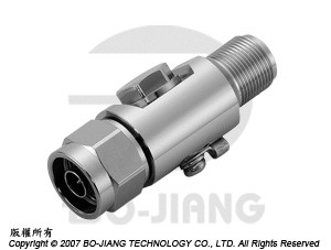 N type male to female RF Surge Arrester, 0~3 GHz