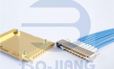 多通道同軸射頻連接器與線組 - 多匝道系列