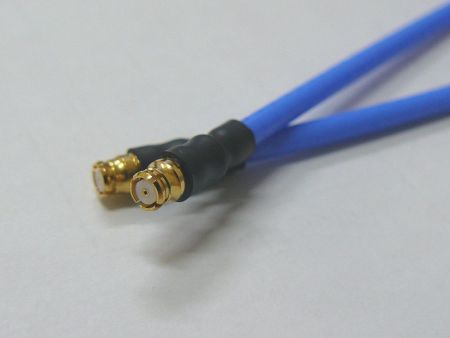SMP Microwave/RF coaxial series phase and amplitude stable cable assemblies - SMP precision RF coaxial match cable