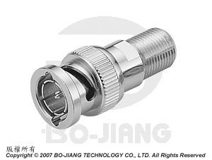 Adaptor BNC PLUG TO F JACK - Adaptor BNC Plug to F Jack