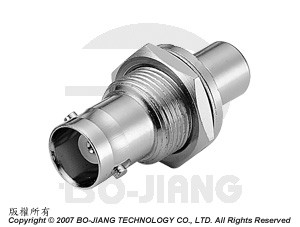 BNC female to RCA female, bulkhead mode RF Coaxial adaptor - Adaptor BNC Bulkhead Jack to RCA Jack