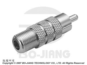F TYPE FEMALE TO RCA MALE RF/MICROWAVE COAXIAL ADAPTOR