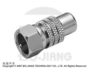 F TYPE MALE TO RCA FEMALE RF/MICROWAVE COAXIAL ADAPTOR