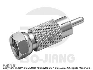 F TYPE MALE TO RCA MALE RF/MICROWAVE COAXIAL ADAPTOR - Adaptor F Plug to RCA Plug
