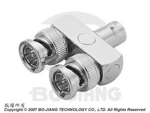BNC 'Y' LINK PLUG-JACK-PLUG ADAPTOR - BNC 'y' Link Plug-Jack-Plug Adaptor