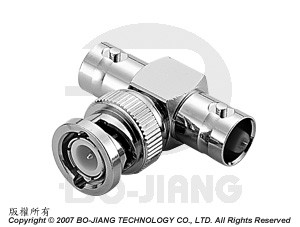 BNC T-ANGLE JACK-PLUG-JACK ADAPTOR - BNC T-Angle Jack-Plug-Jack Adaptor