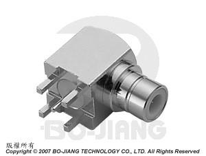 BT43 R/A PCB MOUNT JACK - BT43 R/A PCB Mount Jack