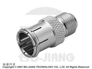 F FEMALE TO MALE QUICK MODE RF/MIRCOWAVE COAXIAL ADAPTOR - F Jack to Quick Plug Adaptor