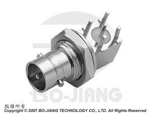 MINI BNC R/A BULKHEAD PCB MOUNT JACK