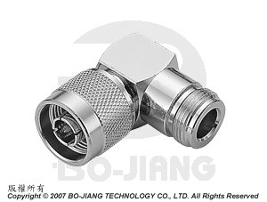 N TYPE RIGHT ANGLE MODE, FEMALE TO MALE COAXIAL ADAPTOR